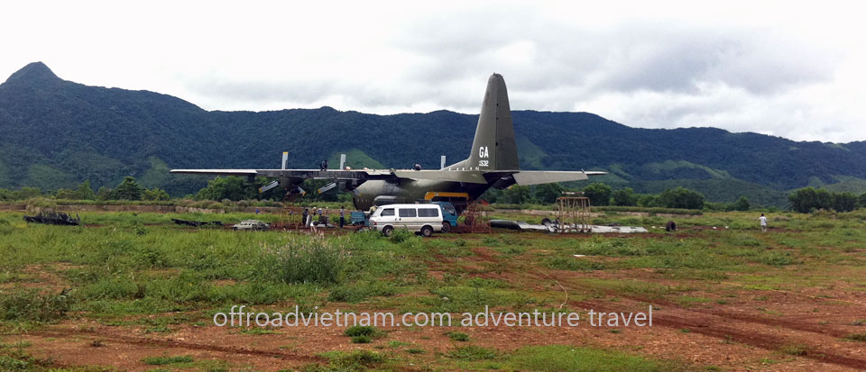 Motorbike Vietnam Adventure Tours - Ho Chi Minh Trail Ride: Aircraft US Navy, Ho Chi Minh trail motorbike tour