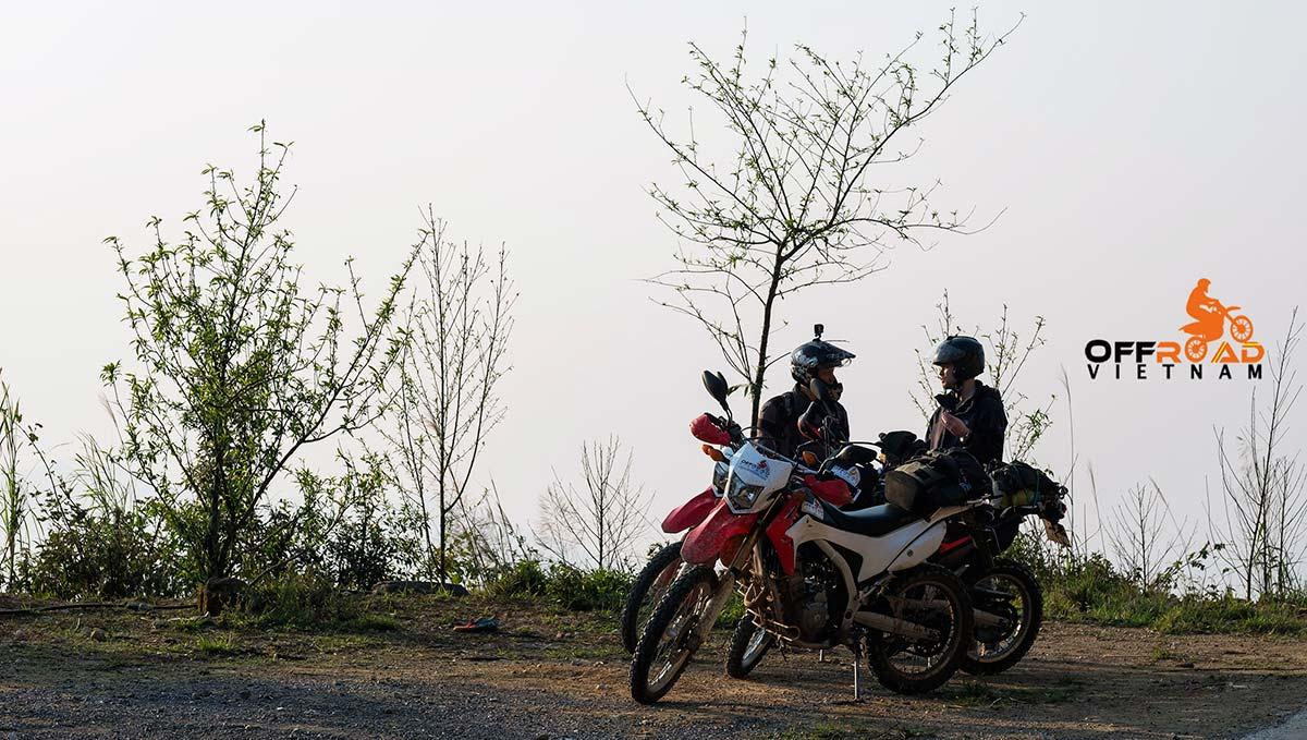 Motorbike Vietnam Adventure Tours - Roof Ride. Vietnam motorbike tours to Sapa. High mountain roads in the cloud.