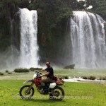 Ban Gioc waterfalls on a Northeast Vietnam motorbike tour
