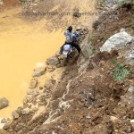 Northeast Vietnam trail bike tours over landslides