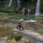 Ban Gioc waterfalls motorbike tours in dry season