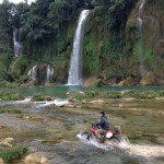 Vietnam enduro tour to Ban Gioc waterfalls, Cao Bang province