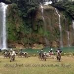 Vietnam trail bike tour to Ban Gioc waterfalls